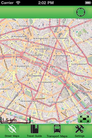 巴黎离线街道地图