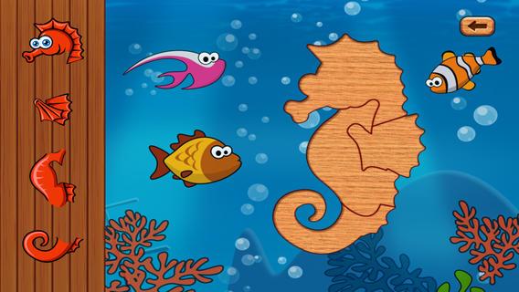 满五颜六色的可爱的海洋动物精彩的拼图集。通过件到正确的位置,教孩子如何手眼和使用的各种难题。 游戏特点: - 22个拼图,3种益智类型 - 婴儿不累的一种类型 - 成功地通过进入更难水平,适合婴儿逐渐 - 背景互动美丽的声音和行动 - 成功后的关卡有乐趣爆破气球 - 滚动条控件选择适合父母防止婴儿错误退出壁垒 - 高品质,高清晰度的图像 - 最后,寓教于乐!