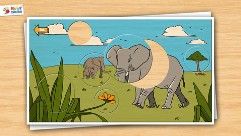 动物木质拼图