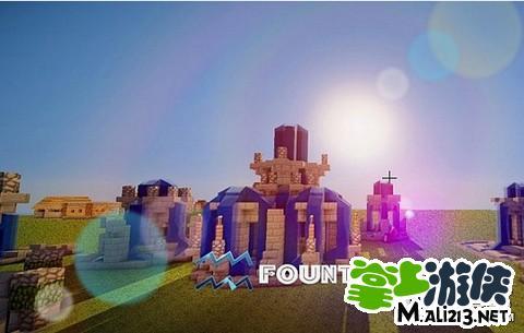 我的世界喷泉设计图 minecraft喷泉地图合集