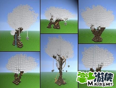 我的世界建筑物地图存档 天使之树建筑包下载