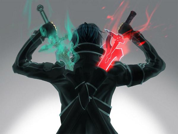 安卓/漆黑的独行者,手持双剑的二刀流战士桐人!