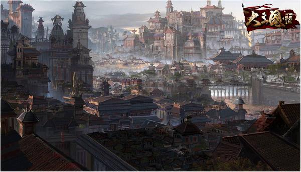 长安的宫殿,飞阁,楼榭和湖苑等皆壮丽宏伟:城市中楼阁层叠,宫阙巍峨图片