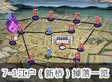 """7-1""""江户(新桥)""""掉落刀剑一览"""
