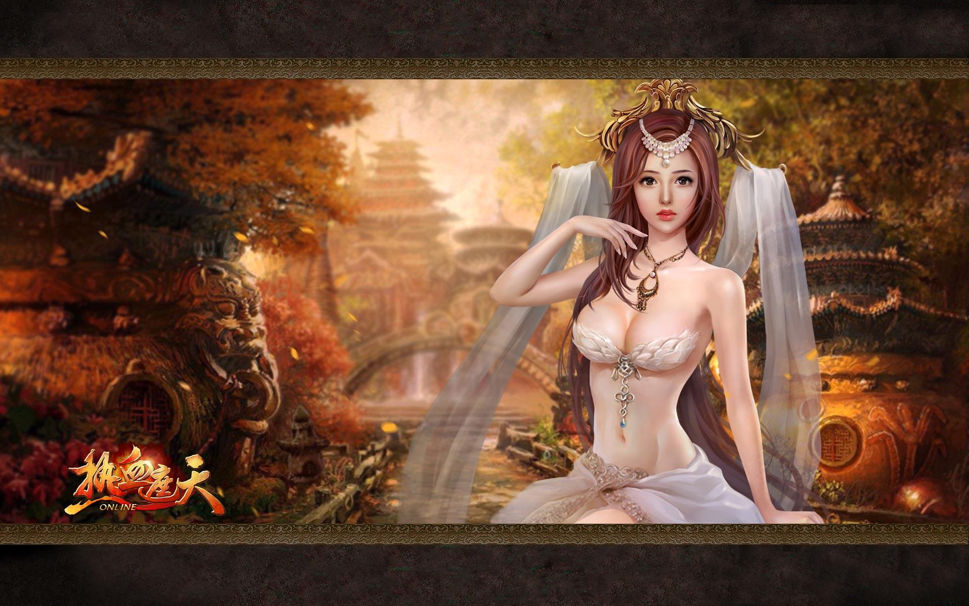 网页游戏美女壁纸_