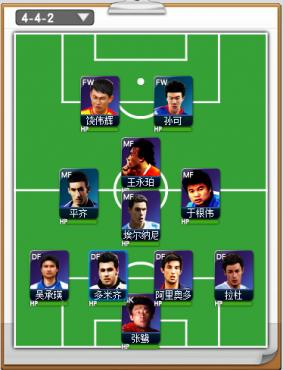 足球达人游戏中阵型介绍