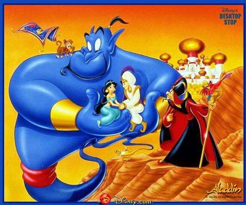 阿拉丁神灯童话图片