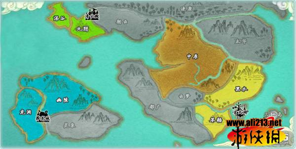 游戏世界大地图
