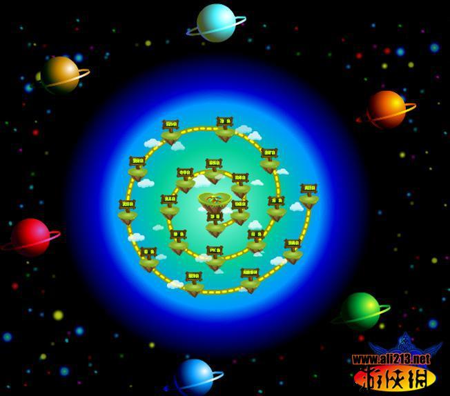 爱心龟族游戏截图--世界地图