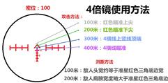 《绝地求生大逃杀》4倍镜测距瞄准使用方法图示详解