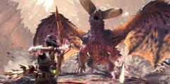 《怪物猎人世界》盾斧历战炎王龙超怂向打法视频