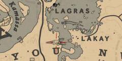 《荒野大镖客2》鳄鱼地图位置说明 在哪找到鳄鱼?