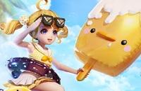 「決戦平安京」金魚姫ビーチダック特効一覧。黄ダックに乗って平安京を周遊する。