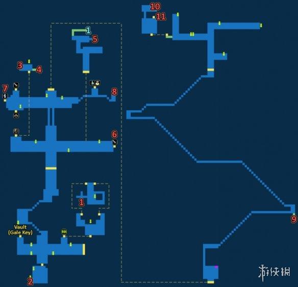 最终幻想勇气启示录工业都市迪尔马基亚宝箱一览FFBE工业都市迪尔马基亚地图