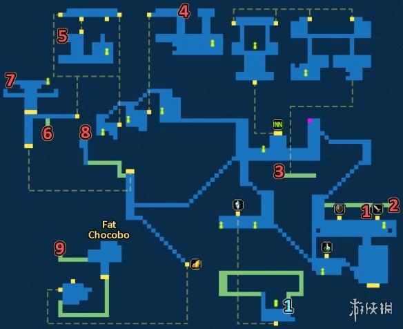 最终幻想勇气启示录科尔兹镇宝箱一览FFBE科尔兹镇地图