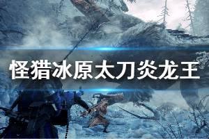 《怪物猎人世界冰原》太刀怎么击杀炎王龙 太刀击杀炎王龙方法一览