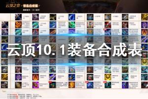 《云顶之弈》10.1版本装备合成表一览 10.1装备合成高清图鉴分享