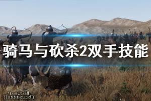 《骑马与砍杀2》双手技能有什么 双手技能介绍