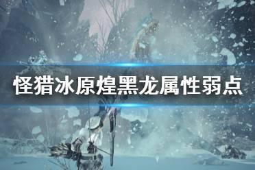 《怪物猎人世界冰原》煌黑龙弱什么 煌黑龙属性弱点及大招介绍