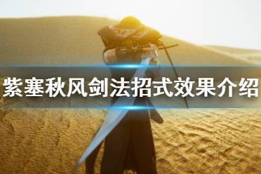 《紫塞秋风》剑法招式有哪些?剑法招式效果介绍
