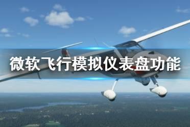 《微软飞行模拟》仪表盘有什么用 仪表盘功能介绍