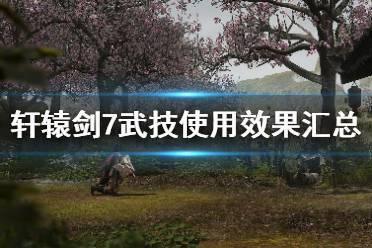 《轩辕剑7》武技怎么放?武技使用效果汇总