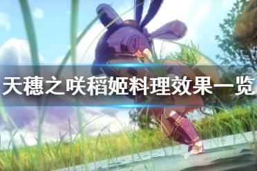 《天穗之咲稻姬》料理有哪些效果 料理效果一览