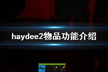 《haydee2》物品有什么用 物品功能介绍