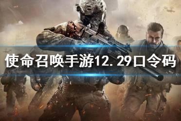 《使命召唤手游》12月29日最新口令码一览 12月29日最新兑换码介绍