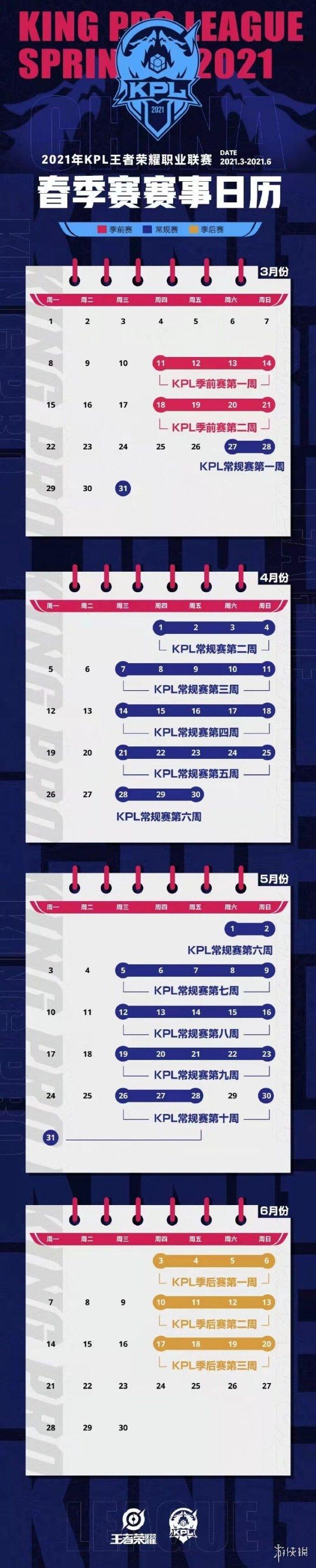 2021kpl春季赛赛程安排是什么 《王者荣耀》2021春季赛赛程安排介绍