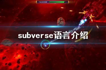 《subverse》有中文吗 游戏语言介绍