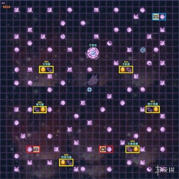 《不思议迷宫》m16地图 m16全局一览