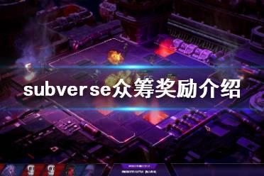 《subverse》众筹奖励有什么 游戏众筹奖励介绍