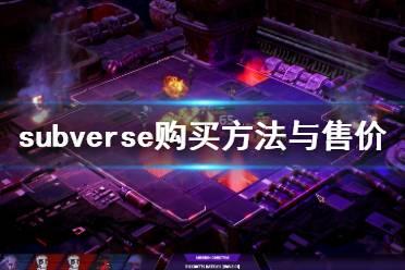《subverse》怎么买多少钱 游戏购买方法与售价介绍