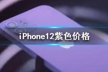 苹果12紫色多少钱 iPhone12紫色价格
