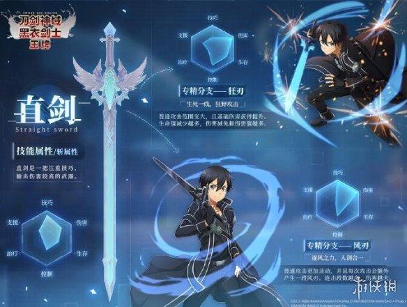 《刀剑神域黑衣剑士王牌》直剑技能怎么样 直剑