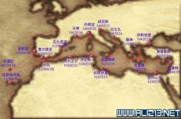 《大航海时代4威力加强版HD》港口地图坐标分布汇总 全港口分布