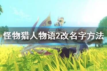 《怪物猎人物语2破灭之翼》怎么改名字?改名字方法介绍