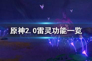 《原神》2.0雷灵有什么用?2.0雷灵功能一览