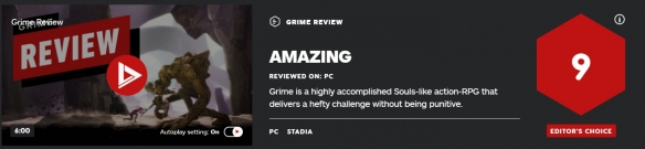 《GRIME》ign评分高吗?ign评分与评价一览