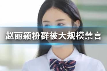 赵丽颖粉群被大规模禁言是怎么回事 赵丽颖粉丝群被禁言原因