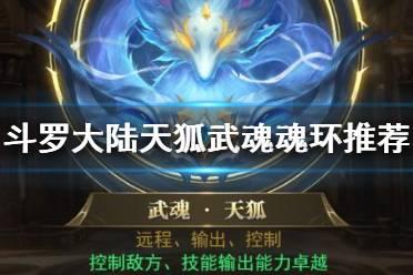 《斗罗大陆》天狐武魂魂环推荐 天狐魂环怎么选