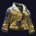 火蜥蜴通透油布纺织夹克
