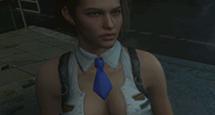 吉尔白色开胸短裙MOD