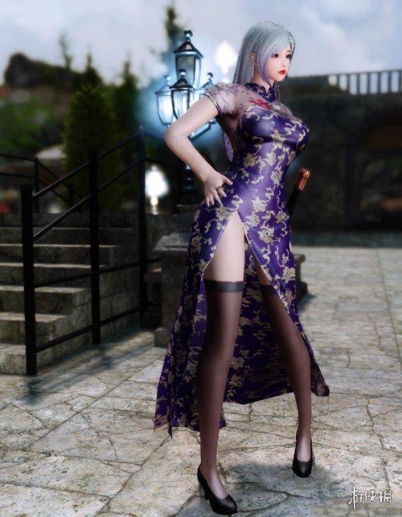 《上古卷轴5:天际重制版》性感黑丝旗袍裙MOD