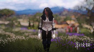 《巫师3:狂猎》叶奈法白色贵族服饰MOD