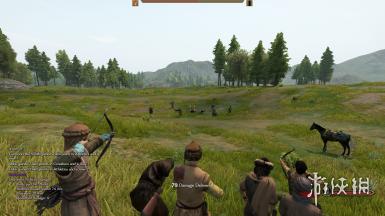 《骑马与砍杀2》钝器和箭可以击倒敌人MOD