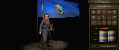 《骑马与砍杀2》翠鸟旗帜MOD,骑马与砍杀2翠鸟旗帜mod下载,骑马与砍杀2mod下载