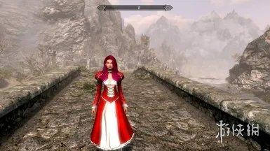 《上古卷轴5:天际重制版》红色军刀连衣裙MOD,上古5重制mod下载,上古卷轴5重制版红色军刀连衣裙mod下载