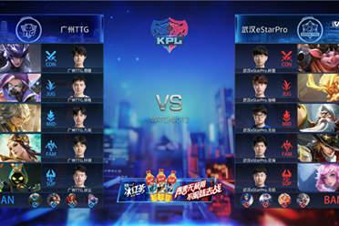 《王者荣耀》KPL2020秋季赛大乔体系分推克敌制胜 武汉eStar击败广州TTG获首胜